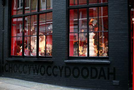 Choccywoccydoodah , esterno del negozio di Londra