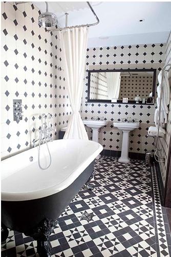 bagni in bianco nero