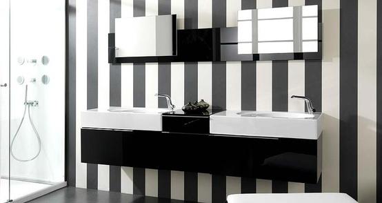 Bagni in bianco nero, piastrelle bianche e nere per un bagno in stile ...