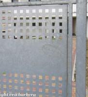 lamiera forata, cancello di ingresso