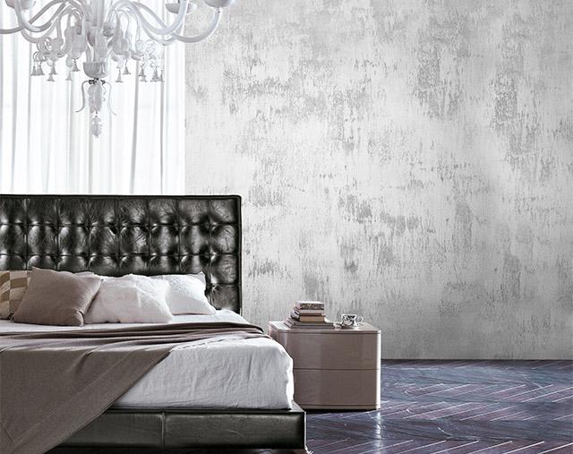 pittura effetto metal in camera da letto - colorificio San Marco